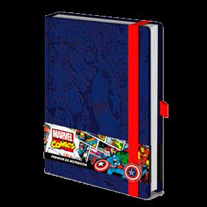 Libreta Premium Marvel Capitán America