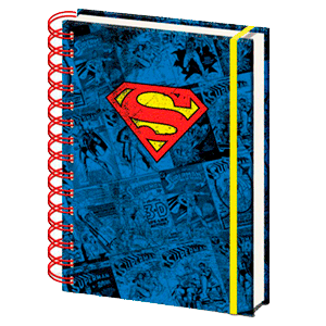 Libreta Espiral Superman Logo