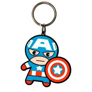 Llavero Marvel Capitan America Kawaii