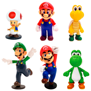 Minifiguras Mario 7cm Surtido