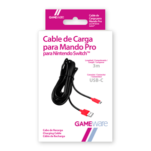 Cable de Carga USB-C para Mando Pro Nintendo Switch GAMEware