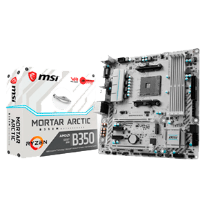 MSI B350M Mortar Arctic AM4