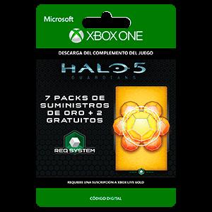 Halo 5: Guardians: 7 Gold REQ Pack + 2 Gratis XONE