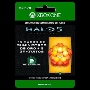 Halo 5: Guardians: 15 Gold REQ Packs + 5 Gratis XONE