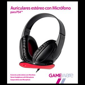 Auriculares Negros Estéreo con Micrófono GAMEware