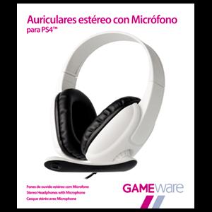 Auriculares Blancos Estéreo con Micrófono GAMEware