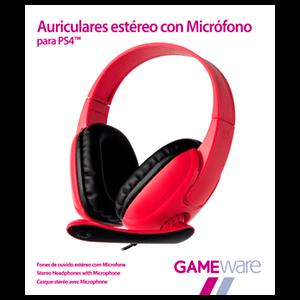 Auriculares Rojos Estéreo con Micrófono GAMEware