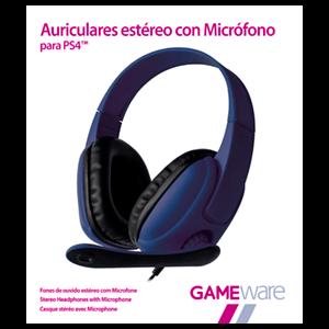 Auriculares Azules Estéreo con Micrófono GAMEware