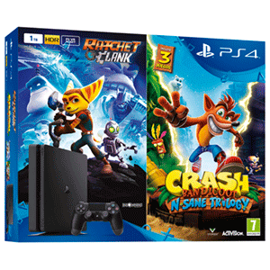 PlayStation 4 Slim 1TB + Crash Bandicoot + Ratchet & Clank