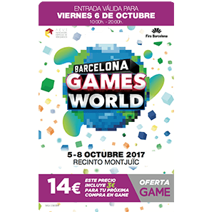 Barcelona Games World 2017. Acceso Viernes 6