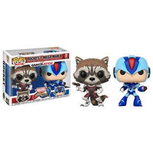 Pack Figuras Pop Marvel vs Capcom: Rocket vs Megaman X