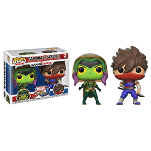 Pack Figuras Pop Marvel vs Capcom: Gamora vs Strider