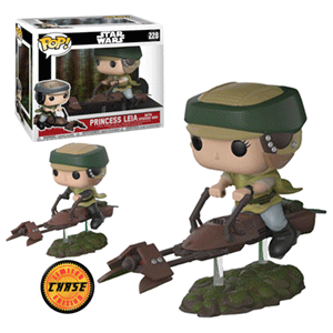 Figura Pop Star Wars: Leia con Speeder Bike