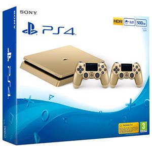 Playstation 4 Slim 500Gb Gold + 2 Dualshock 4 V2