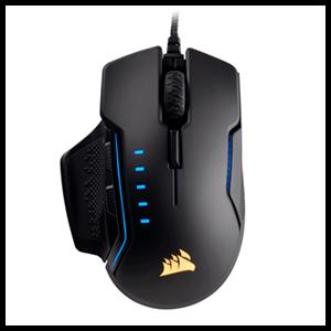 CORSAIR Glaive RGB Negro 16000 DPI - Ratón Gaming