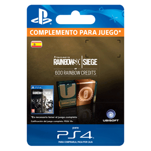 Rainbow Six Siege 600 Credit Pack PS4