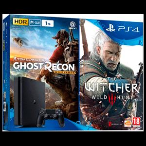 PlayStation 4 Slim 1Tb + Ghost Recon Wildlands + The Witcher 3 Wild Hunt
