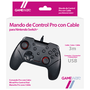 Mando de Control Pro con Cable para Nintendo Switch GAMEware
