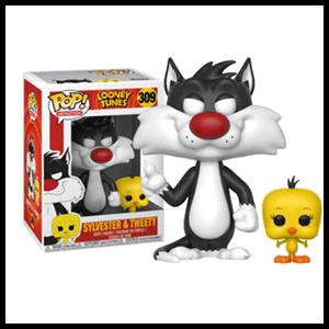 Figura Pop Looney Tunes: Sylvester y Piolin