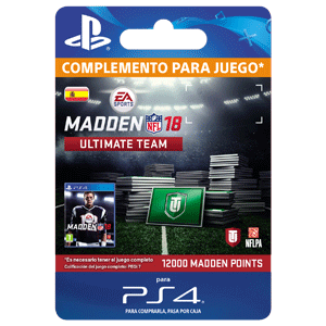 Madden NFL 18 12000 Ultimate Team Points PS4