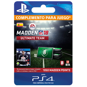 Madden NFL 18 1050 Ultimate Team Points PS4