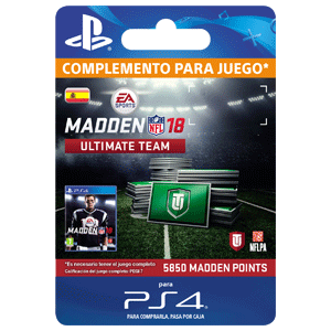 Madden NFL 18 5850 Ultimate Team Points PS4