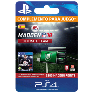 Madden NFL 18 2200 Ultimate Team Points PS4