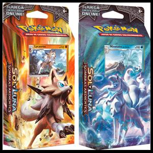 Baraja 60 Cartas Pokemon Sol y Luna: Sombras Ardientes