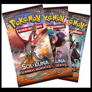 Sobre 10 Cartas Pokemon Sol y Luna: Sombras Ardientes