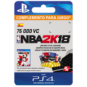 NBA 2K18 75,000 VC PS4
