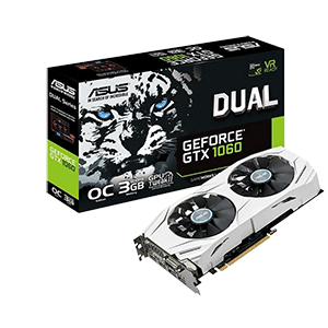 Asus Dual GeForce GTX 1060 OC 3GB