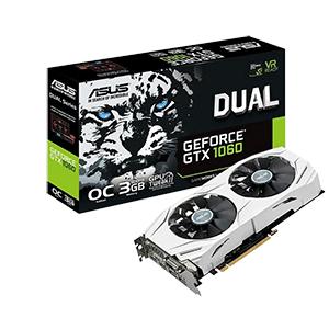 ASUS Dual GeForce GTX 1060 OC 3GB GDDR5 - Tarjeta Gráfica Gaming