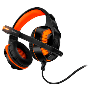 KROM Konor 7.1 LED Naranja PC-PS4 - Auriculares Gaming