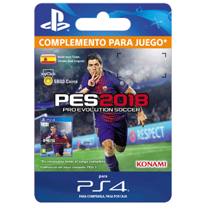 PES 2018 myClub Coin 5800 PS4
