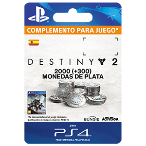 2000 + 300 Bonus Destiny 2 Silver PS4
