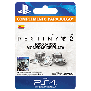 1000 + 100 Bonus Destiny 2 Silver PS4