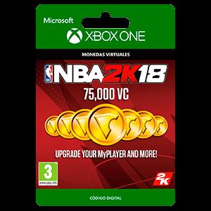 NBA 2K18: 75,000 VC XONE