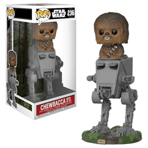 Figura Pop Deluxe Star Wars: Chewbacca en AT-ST