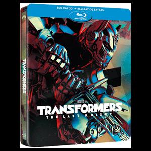 Transformers: El Último Caballero Edición Steelbook BD 3D