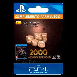 Tierra Media: Sombras de Guerra - 2200 Gold PS4
