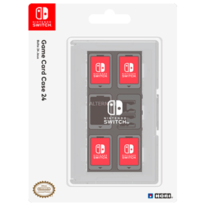 Estuche Transparente 24 juegos Switch Hori -Licencia oficial-