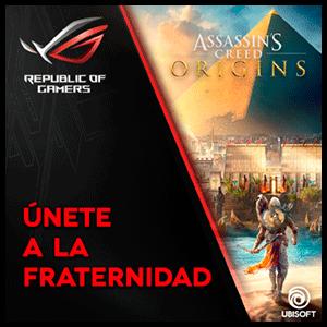 Assassins Creed Origins Promoción ASUS