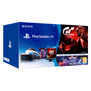 Playstation VR + Cámara 2.0 + VR Worlds + Gran Turismo Sport