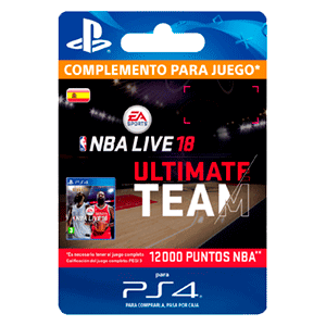 NBA Live 18 Ultimate Team - 12000 NBA Points PS4
