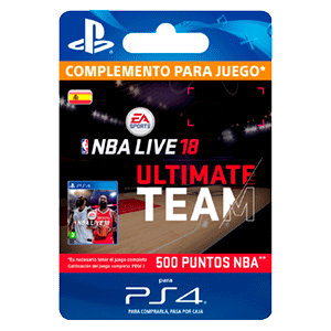 NBA Live 18 Ultimate Team - 500 NBA Points PS4