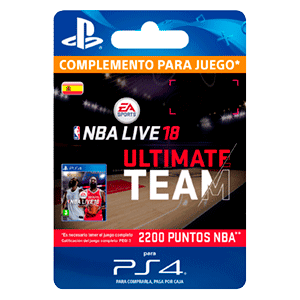 NBA Live 18 Ultimate Team - 2200 NBA Points PS4