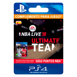 NBA Live 18 Ultimate Team - 5850 NBA Points PS4