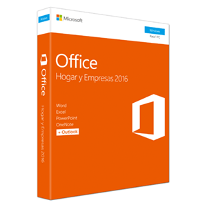 Microsoft Office Hogar y Empresas 2016 - Licencia Perpetua - 1 PC Windows