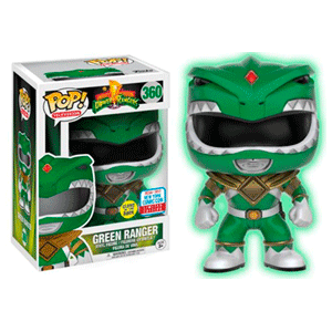 Figura Pop Power Rangers: Green Ranger GITD