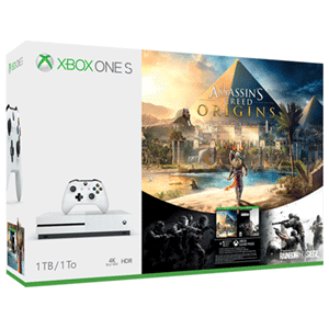 Xbox One S 1TB Assassin's Creed Origins + Tom Clancy's Rainbow Siege